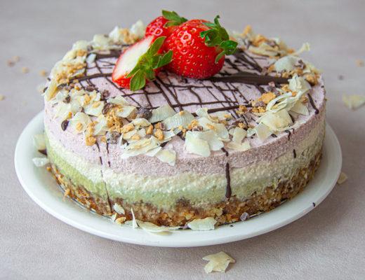raw vegan cake Hina matsuri