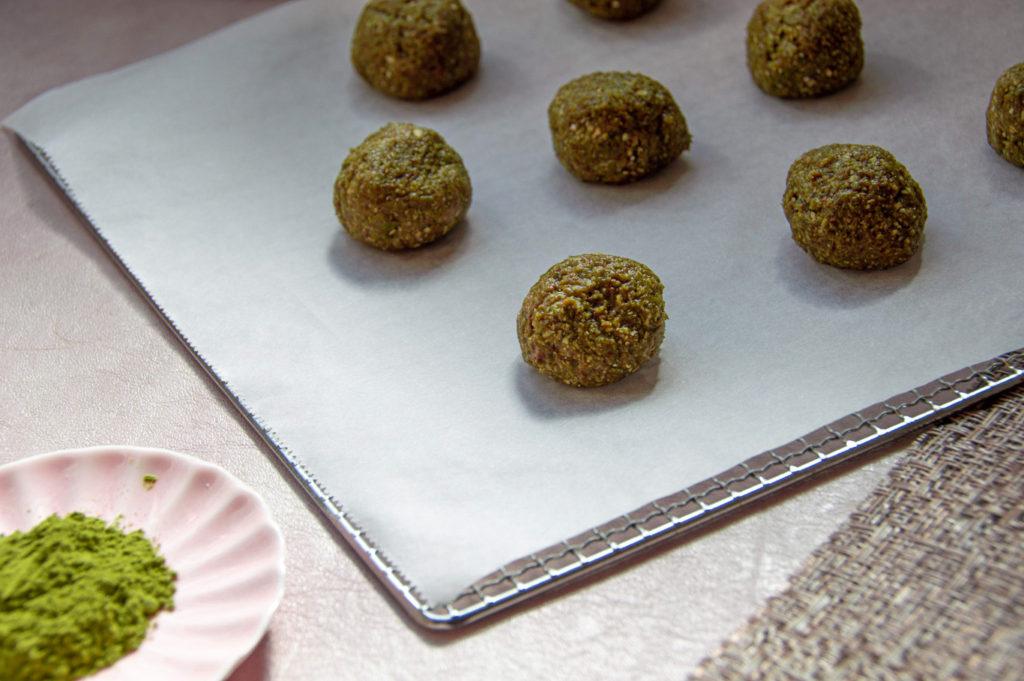 עוגיות מאצ'ה ללא סוכר