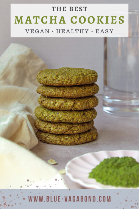 matcha cookies Pinterest pin