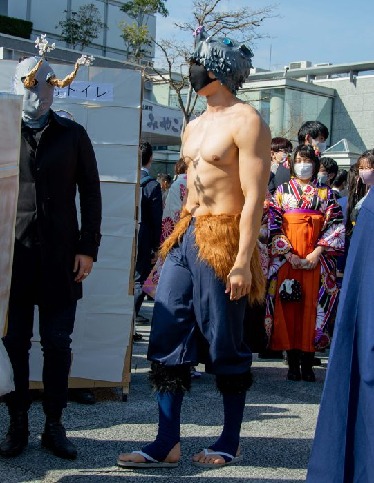 wild cosplay graduation Kyoto