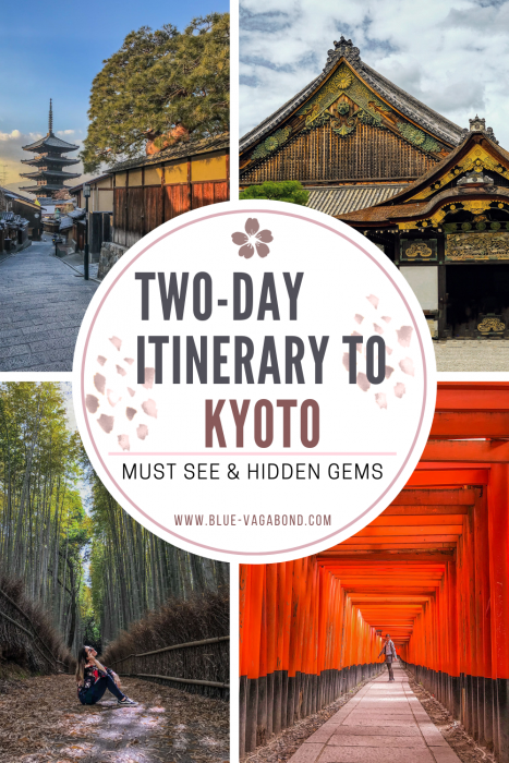 two-day itinerary to kyoto Pinterest pin